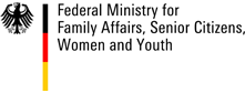 Logo of the Federal Ministry for Family Affairs, Senior Citizens, Women and Yout